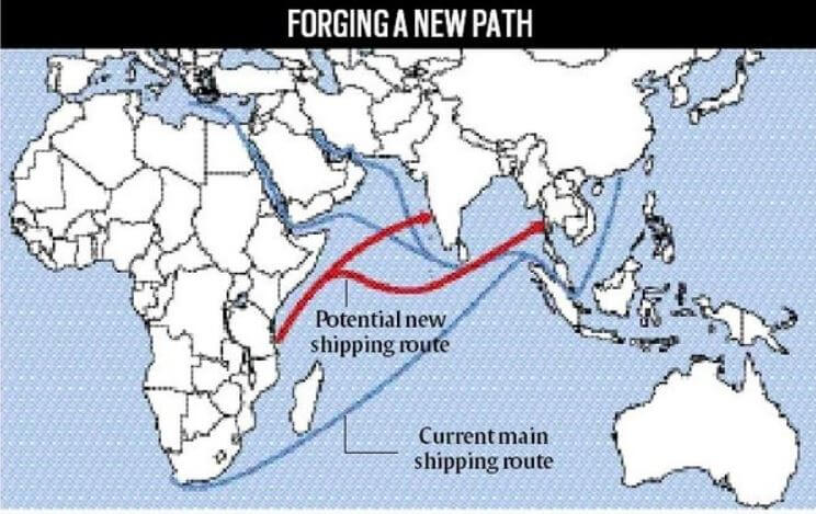 India & Japan marine silk road rout