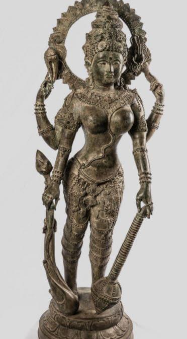 Antique Thai Style Lakshmi Statue