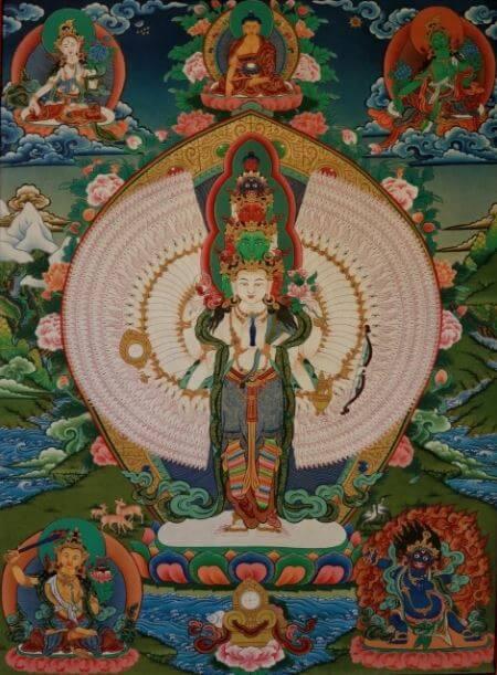 Mandala designs and thangka paintings