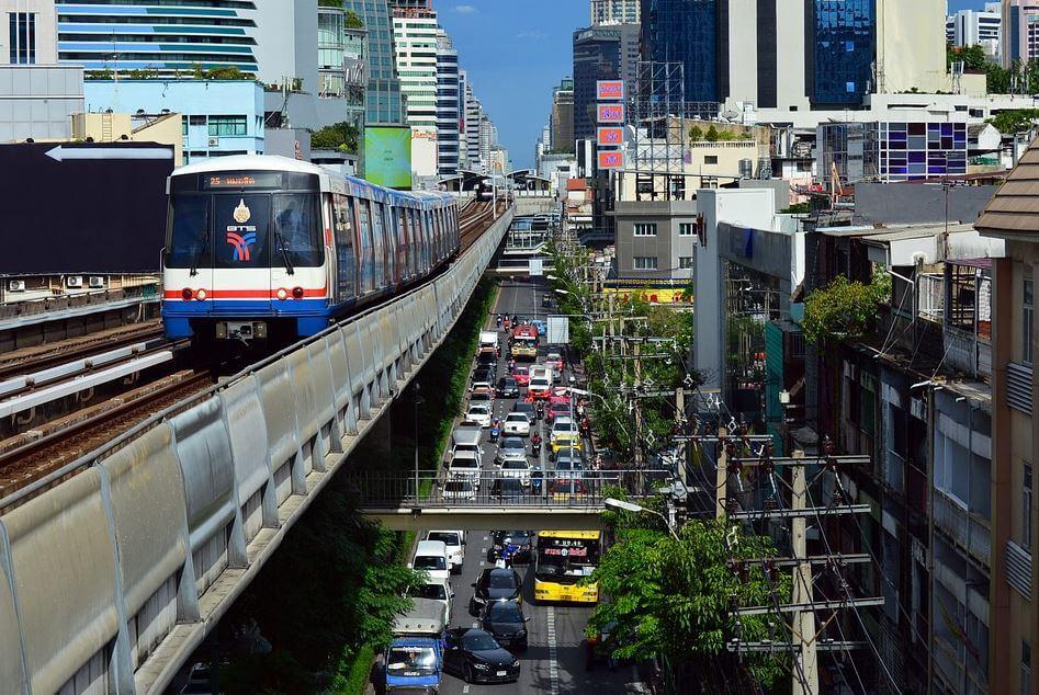 Bangkok Skytrain transportation