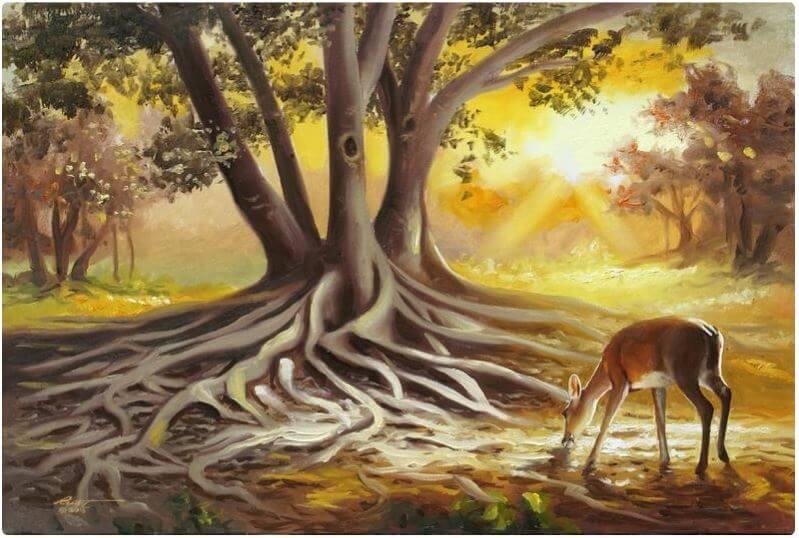 Banyan tree painting