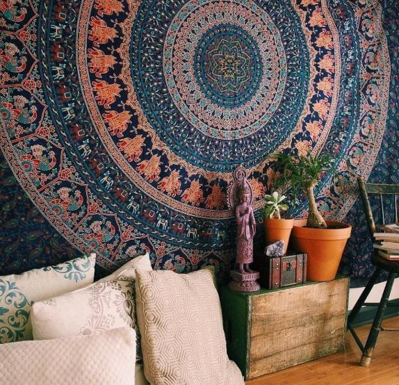 Buddhist symbol - Dharma mandala tapestry