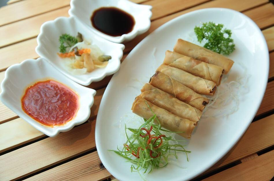 Chines new year dish Spring Rolls