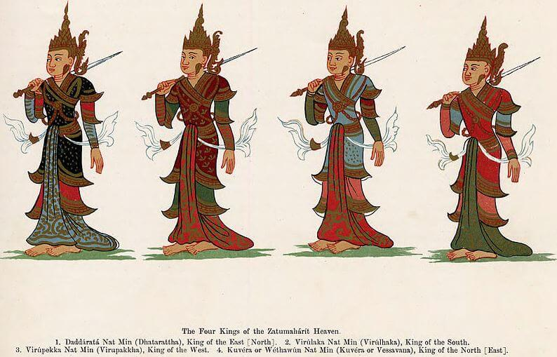 Four guardian kings - Buddhist symbol