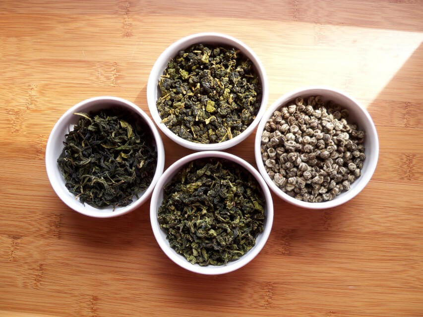Types of tea - green tea