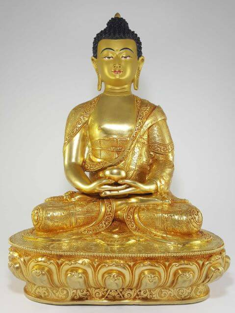 Gold Amitabha Buddha for sale