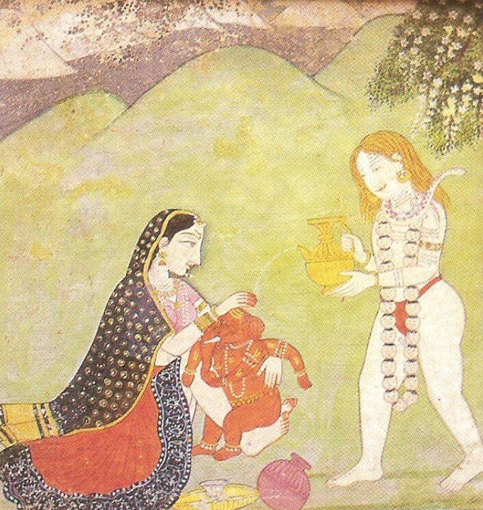 Hindu God Ganesh - the son of Shiva and Parvati