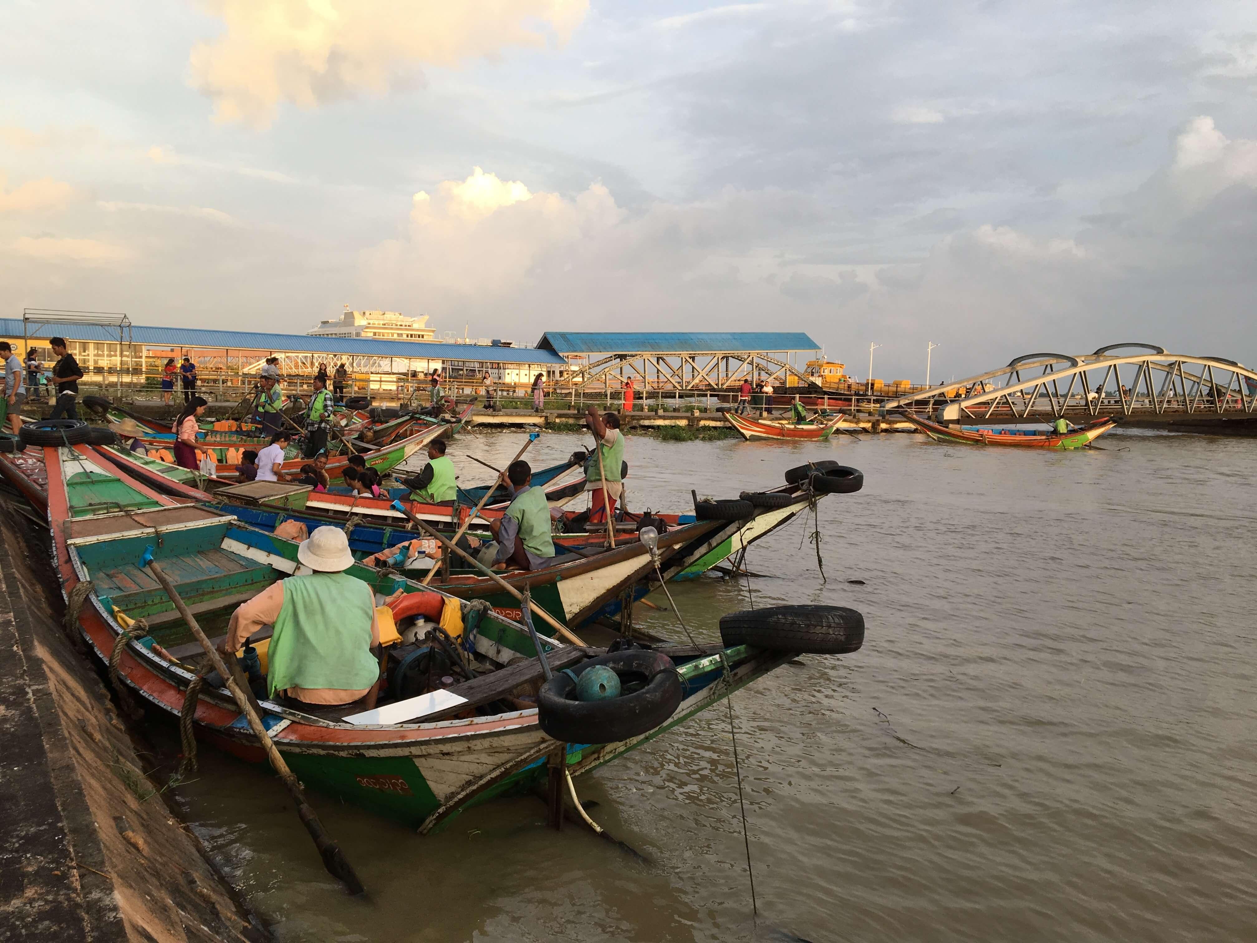 Nan Thida Ferry terminal Yangon River