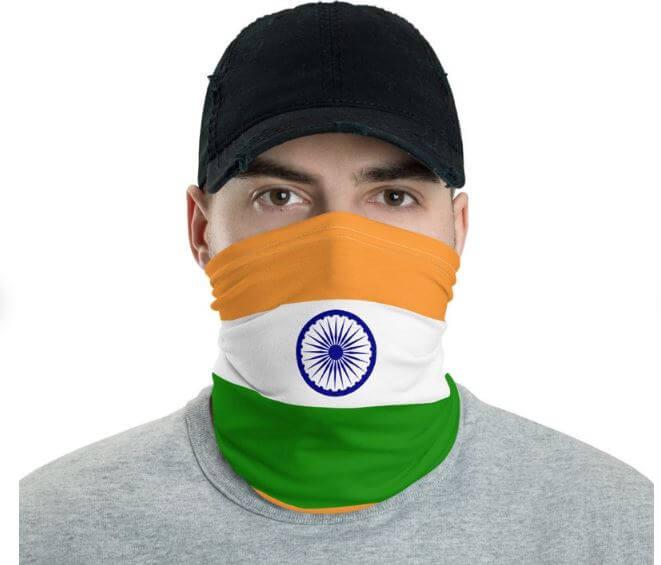 India flag face mask