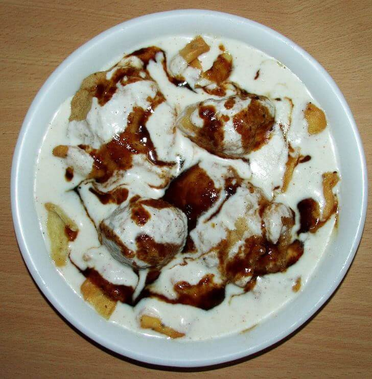 Indian culture food Dahi Bhalla Chaat