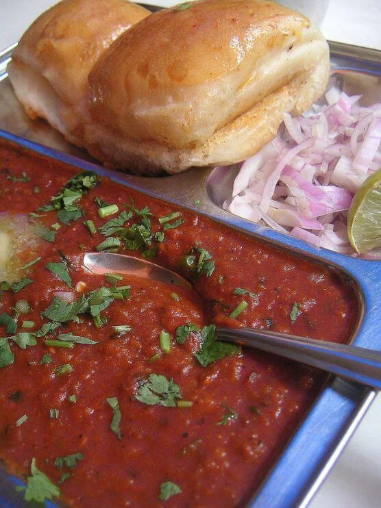 Indian food recipe Pav Bhaji