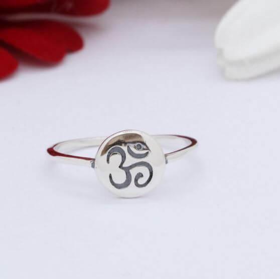 Indian symbols OM ring