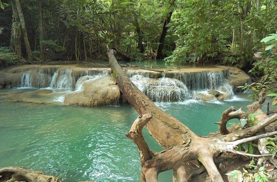 Erawan waterfalls trek in Kanchanaburi
