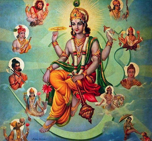 Lord Vishnu and his avatars - Hindu symbols