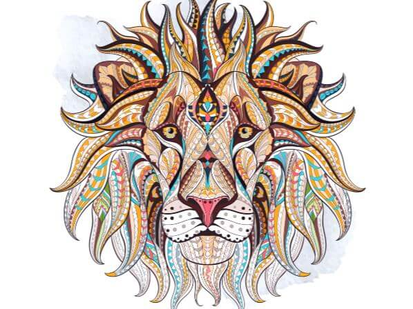 Mandala animals coloring pages