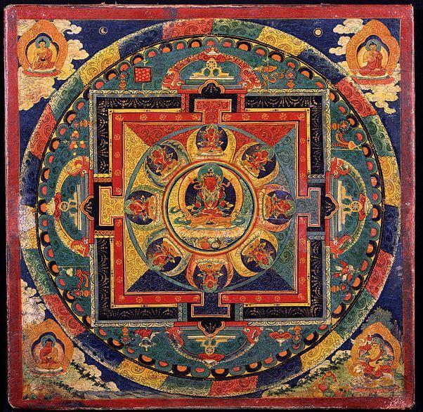 Mandala plate with deities