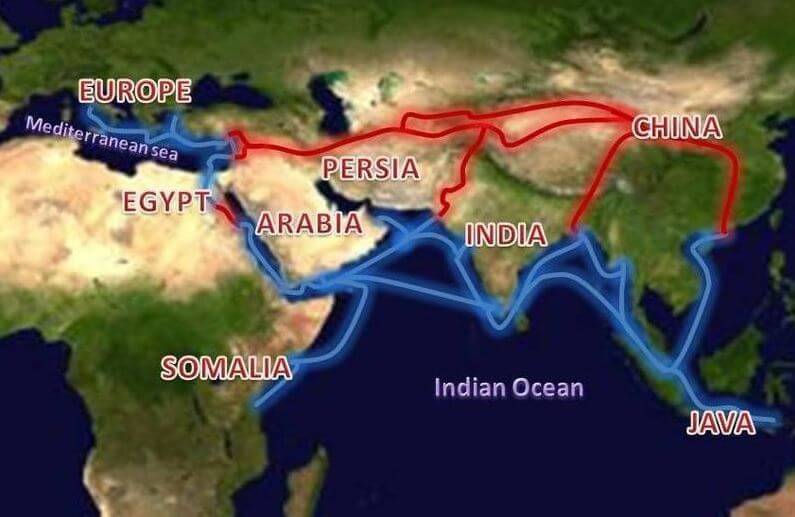 Ancient silk route