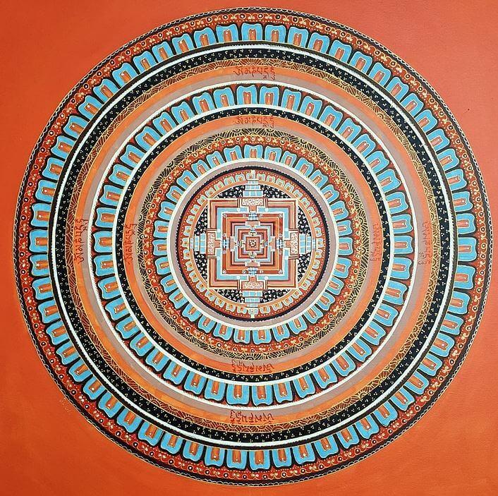 Painting mandala