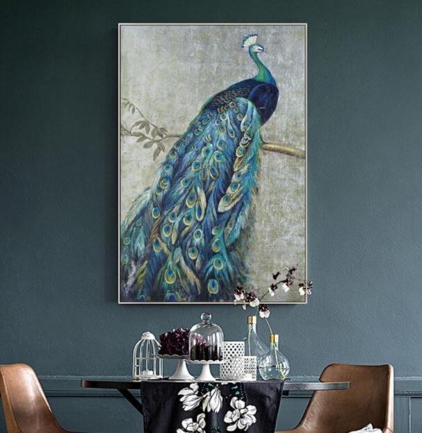 Peacock painting India symbol buy online