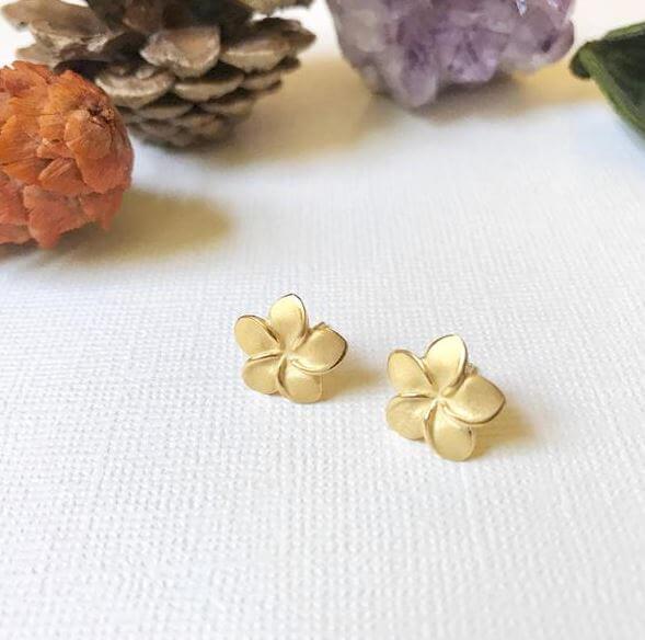 Plumeria stud earrings buy online