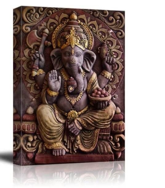 Sculpture of Ganesha Hindu God