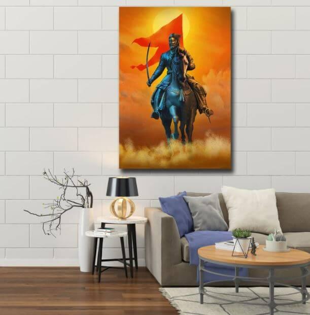 Shivaji Maharaj Canvas Painting buy online