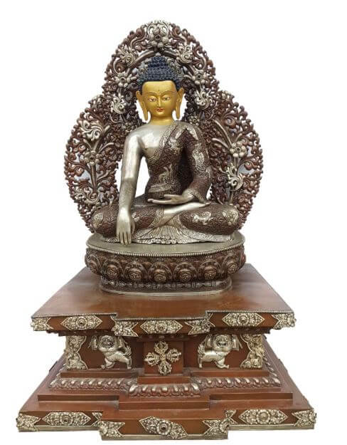 Silver-plated Buddha statue for sale