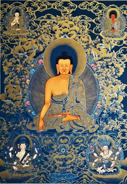 Thangka Buddha painting