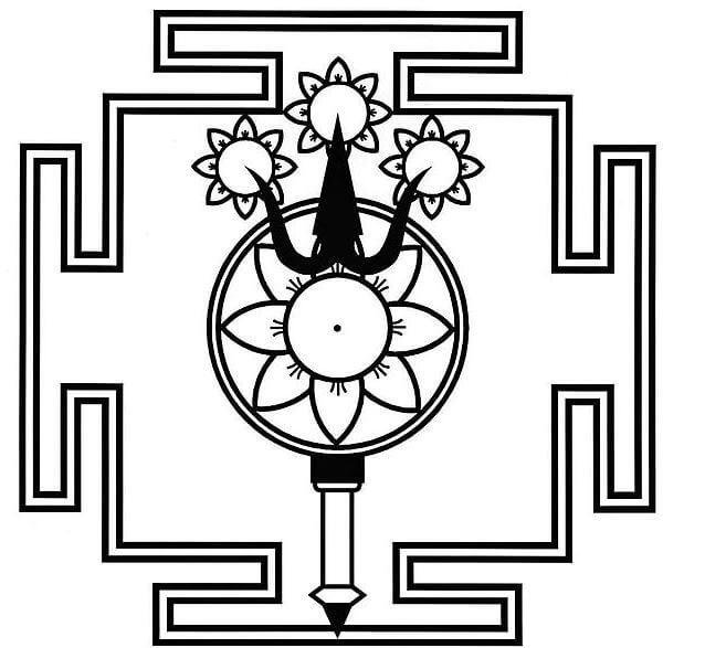 Trident Yantra mandala