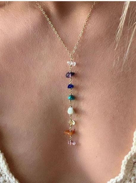 chakra orgone healing necklace
