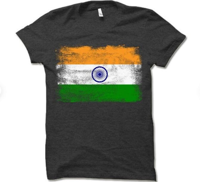 india flag t shirt png